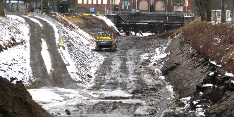 Intagskanalen torrlagd - februari 2013
